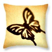 Butterfly Throw Pillow by Tony Cordoza