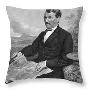 David Livingstone Throw Pillow by Granger