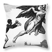 Franklin: Way To Wealth Throw Pillow by Granger