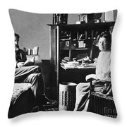 George Bernard Shaw Throw Pillow by Granger