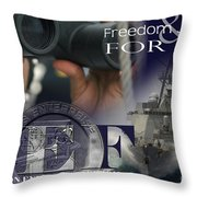 Illustration Of Crew Members Involved Throw Pillow by Stocktrek Images