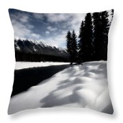Open Water In Winter Throw Pillow by Mark Duffy