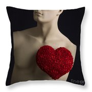 Red Heart Throw Pillow by Bernard Jaubert