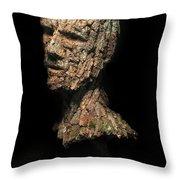 Revered  A Natural Portrait Bust Sculpture By Adam Long Throw Pillow by Adam Long