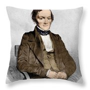 Richard Owen, English Paleontologist Throw Pillow by Science Source