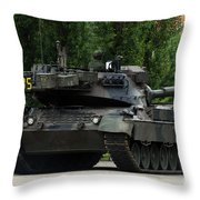 The Leopard 1a5 Mbt Of The Belgian Army Throw Pillow by Luc De Jaeger