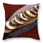 Apple Chips Throw Pillow by Joana Kruse