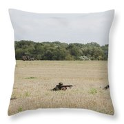 Belgian Paratroopers On Guard Throw Pillow by Luc De Jaeger