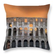 Colosseum. Rome Throw Pillow by BERNARD JAUBERT