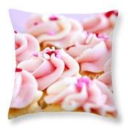 Cupcakes Throw Pillow by Elena Elisseeva