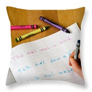 Dyslexia Testing Throw Pillow by Photo Researchers, Inc.