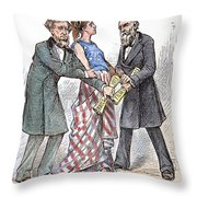 Election Cartoon, 1876 Throw Pillow by Granger