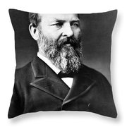 James A. Garfield, 20th American Throw Pillow by Photo Researchers
