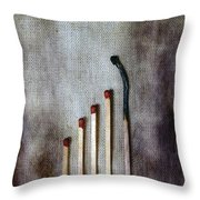 Matches Throw Pillow by Joana Kruse