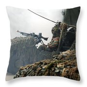 A Recce Or Scout Team Of The Belgian Throw Pillow by Luc De Jaeger