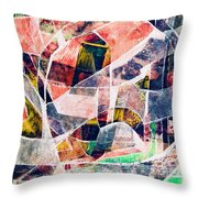 Abstract Composition Throw Pillow by Michal Boubin