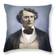 CHARLES SUMNER (1811-1874) Throw Pillow by Granger