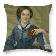 Charlotte Bronte, English Author Throw Pillow by Photo Researchers