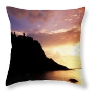 Dunluce Castle, Co Antrim, Ireland Throw Pillow by The Irish Image Collection
