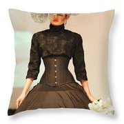 Fat Fashion Art Toronto Throw Pillow by Andrea Kollo