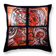 Jesus - Tile Throw Pillow by Gloria Ssali