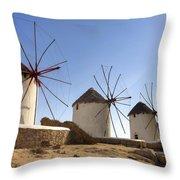 Mykonos Throw Pillow by Joana Kruse