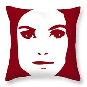 Illustration Of A Woman In Fashion Throw Pillow by Frank Tschakert