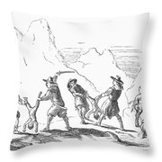 Persecution Of Waldenses Throw Pillow by Granger