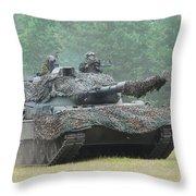 The Leopard 1a5 Main Battle Tank Throw Pillow by Luc De Jaeger