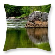 Williams River Scenic Backway Throw Pillow by Thomas R Fletcher