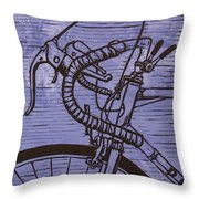 Bike 2 Throw Pillow by William Cauthern