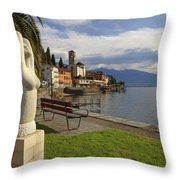 Brissago - Ticino Throw Pillow by Joana Kruse