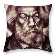 Frederick Douglass Throw Pillow by Granger