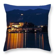 Island Of San Giulio Throw Pillow by Joana Kruse