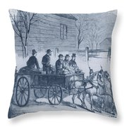 John Brown, American Abolitionist Throw Pillow by Photo Researchers