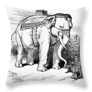 Presidential Campaign, 1884 Throw Pillow by Granger