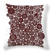 Red Abstract Throw Pillow by Frank Tschakert