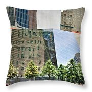 9/11 Memorial Throw Pillow by Gwyn Newcombe