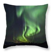 Aurora Borealis Or Northern Lights Throw Pillow by Robert Postma