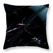 A Chartered Private Corvette Throw Pillow by Brian Christensen