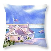 A Chatham Fish Market Throw Pillow by Joseph Gallant