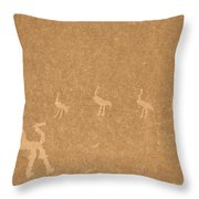 A Close View Of Ancient Petroglyphs Throw Pillow by TAYLOR S. KENNEDY