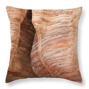A Close View The Layered Sandstone Throw Pillow by Taylor S. Kennedy
