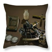 A Collection Of Explorer Robert E Throw Pillow by Victor R. Boswell, Jr