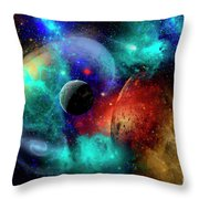 A Colorful Part Of Our Galaxy Throw Pillow by Mark Stevenson