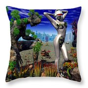A Conceptual Idea Showing Nature Throw Pillow by Mark Stevenson