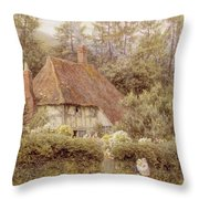 A Cottage Near Haslemere Throw Pillow by Helen Allingham