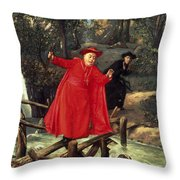 A Delicate Balance Throw Pillow by Francois Brunery