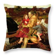 A Dream of the Past Throw Pillow by Sir John Everett Millais
