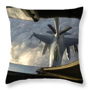 A Kc-135 Stratotanker Connects With An Throw Pillow by Stocktrek Images